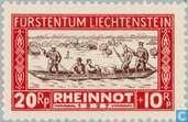 Timbres-poste - Liechtenstein - Inondations