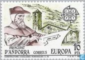 Postage Stamps - Andorra - Spanish - Europa – Human Genius