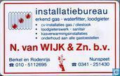 Phone cards - PTT Telecom - Installatiebureau N. van Wijk & Zn.
