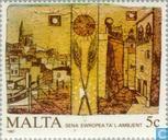 Postzegels - Malta - Europees Jaar van het Milieu