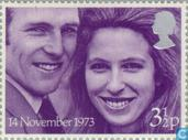 Postage Stamps - Great Britain - Princess Anne and Mark Phillips Wedding