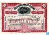 North Butte Mining Company, Certificate for 100 shares, Capital stock