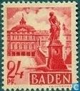 Timbres-poste - Bade - Zone  française - Paysage urbain de Baden