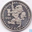 """Penningen / medailles - Lokaal geld - 2 Ecu Sail Amsterdam 1995 """"Friese Tjotters"""""""