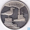 """Penningen / medailles - Lokaal geld - 2 Euro Sail Den Helder 1997 """"Stoomvaart/Zilvermeeuw"""""""