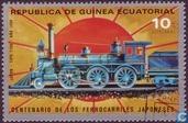 Postzegels - Equatoriaal-Guinea - 100 jaar Japanse Spoorwegen