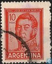 Postzegels - Argentinië - Jose de San Martin