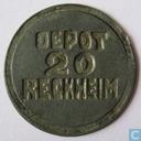 20 cents 1815 Bedelaarsgesticht Rekem