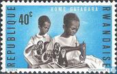 Postzegels - Rwanda - Home voor gehandicapte kinderen