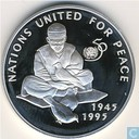 """Afghanistan 500 afghanis 1995 (PROOF) """"50th Anniversary United Nations"""""""
