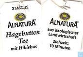Sachets et étiquettes de thé - Alnatura -  8 Hagebutten Tee mit Hibiskus