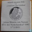 "Penningen / medailles - ECU penningen - Nederland 2½ ecu 1997 ""Johan Maurits van Nassau"""