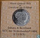 """Penningen / medailles - ECU penningen - Nederland 2½ Ecu 1994 """" Juliana & Bernhard"""""""