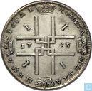 Rusland 1 roebel 1723 (1 zonder punt)