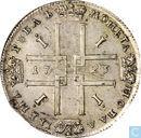 Rusland 1 roebel 1723 (1 met punt)