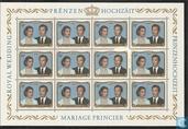 Postzegels - Luxemburg - Huwelijk Henri