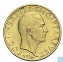 Albanië 20 franga ari 1938