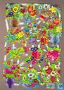 Vrolijke vazen en potten bloemen poëzieplaatjes 7007