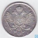 Rusland 1 roebel 1740