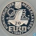 """Penningen / medailles - Fantasie munten - Nederland 20 Euro 1998 """"M.C. Escher"""""""