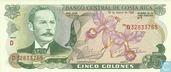 5 Costa Rica Colones