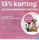15% korting op onze dierenverzekering