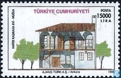 Timbres-poste - Turquie - Maisons traditionnelles