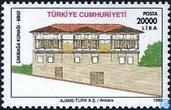 Timbres-poste - Turquie - Maisons traditionnelles