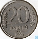 Rusland 20 roebel 1993 (m - magnetisch)