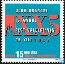 Postzegels - Turkije - 25 jaar Istanbul Festival