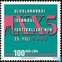 Postage Stamps - Turkey - 25 years Istanbul Festival