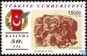 Briefmarken - Türkei - Türkischen Journalistenverband