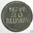 20 cents 1815 Bedelaarsgesticht Rekem (misslag)