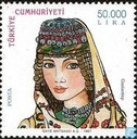 Postage Stamps - Turkey - Headdresses
