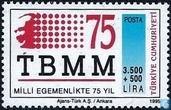 Timbres-poste - Turquie - Assemblée nationale de 75 ans