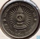 """Thailand 2 baht 1987 (jaar 2530) """"King Rama IX - 60 jaar"""""""