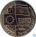"Penningen / medailles - Fantasie munten - Israel 5 euro 1996 ""Golda Meir"""