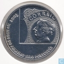 """Portugal 5 euro 2003 (Numisbrief) """"150th anniversary of the first Portuguese stamp"""""""