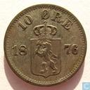 Norway 10 øre 1876
