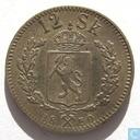 Norway 12 skilling 1850 (V. KONGE)