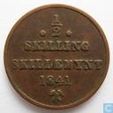 Norway ½ skilling 1841 (Star under mintmark)