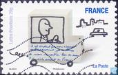 Postzegels - Frankrijk - Humor