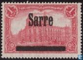 Surimpression sur timbres allemands