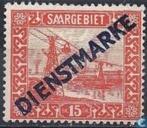 Briefmarken - Saargebiet - Seilbahn Fenne, gedruckt