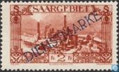Briefmarken - Saargebiet - Stahlwerke in Burbach mit Drucken