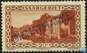 Briefmarken - Saargebiet - Vaubankazerne mit Aufdruck