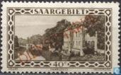 Briefmarken - Saargebiet - Vauban-Kaserne in Saarlouis