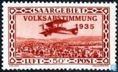 Timbres-poste - Sarre (1920-1935) - Empreinte avec VOLKSABSTIMMUNG 1935 la poste aérienne