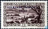 Timbres-poste - Sarre (1920-1935) - Vallée de la Sarre à Güdingen B avec menacer VOLKSABSTIMMUNG 1935
