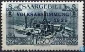 Timbres-poste - Sarre (1920-1935) - VOLKSABSTIMMUNG dans les aciéries de Burbach à menacer 1935